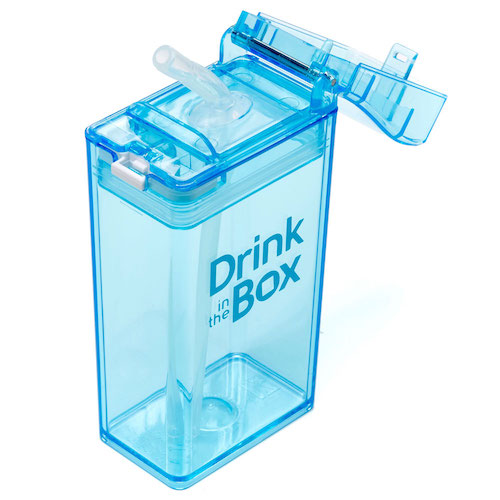 Drink in the Box blauw bovenaf