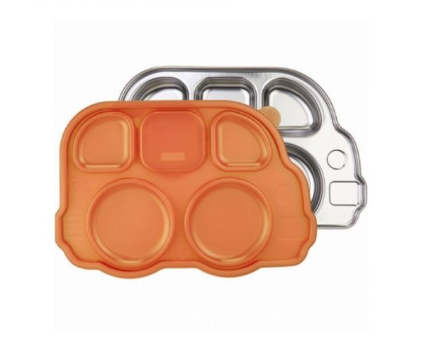 Monkey platter bord Bus, met deksel oranje