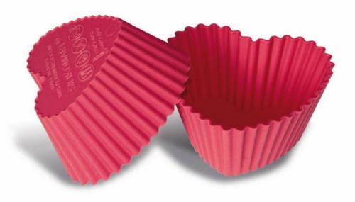 Muffin en cupcakevormen Hartjes, Silikomart