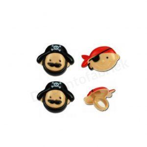 Piraat en kapitein Bento ringen