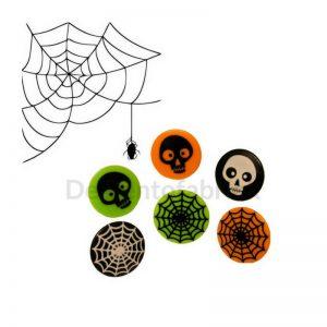 Spinnenweb en doodskop Bento ringen web