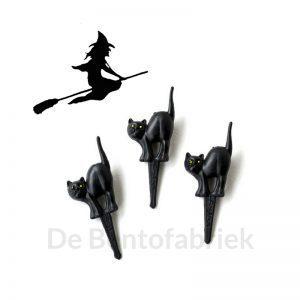 Zwarte kat Bento prikkers