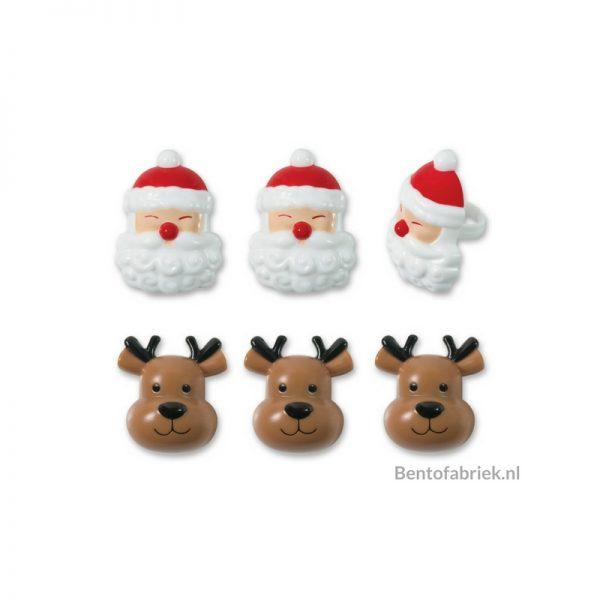 Kerstman en Rudolph rendier Bento ringen