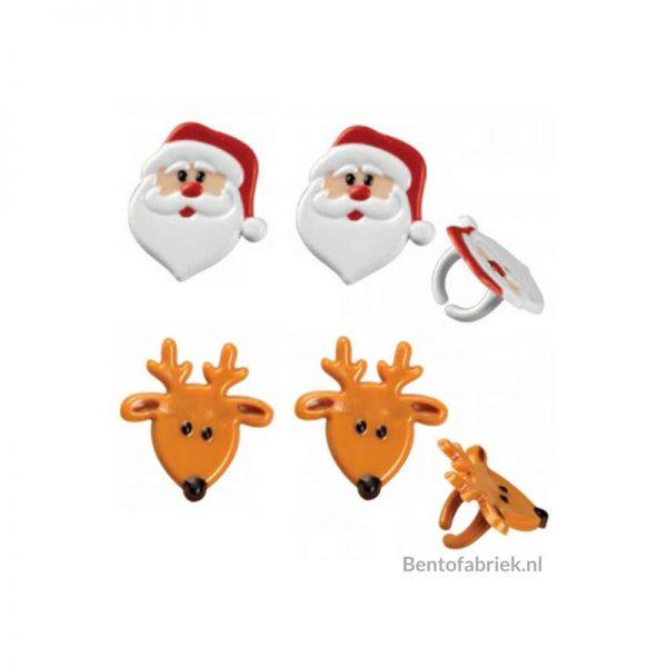 Kerstman en rendier Bento ringen
