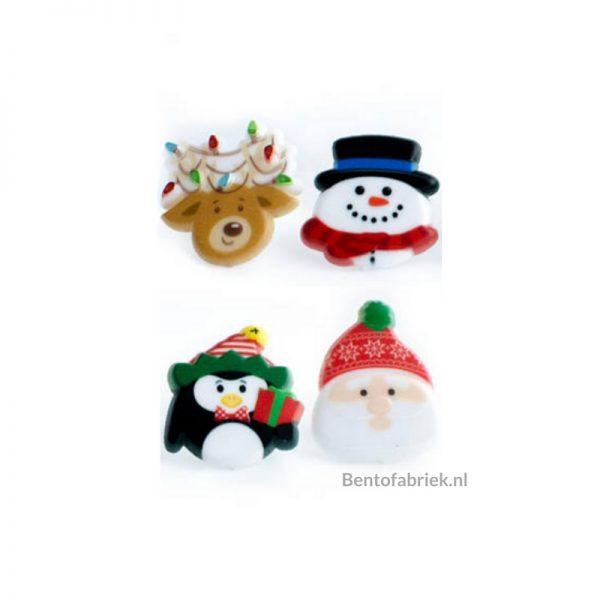 Kerstman en vriendjes Bento ringen