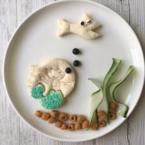 Lunch Punch Mermaid – Zeemeermin en mermaid tail Brooduitstekers