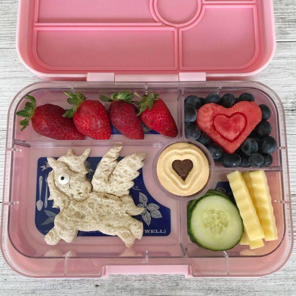 Lunch Punch Unicorn love - Eenhoorn en hartjes Brooduitstekers
