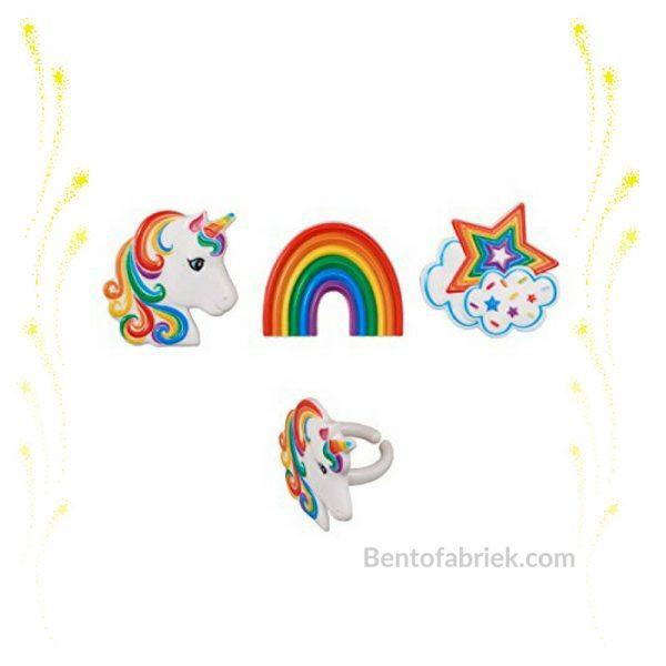 Eenhoorn en regenboog Bento ringen