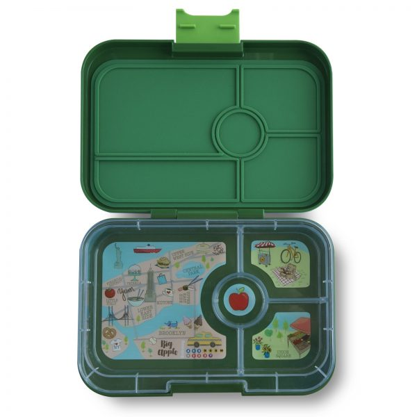 Yumbox Tapas Brooklyn Green – 4 vakken (met New York City tray)