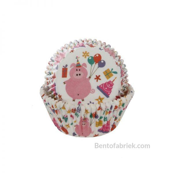 Cupcakevormen Feestvarken - 50 stuks