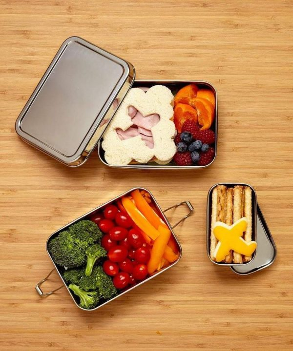 Eco Lunchbox Three in one Classic RVS