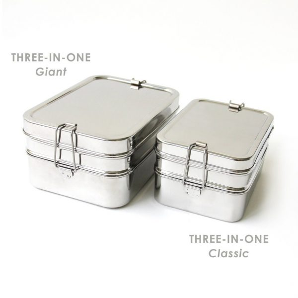 Eco Lunchbox Three in one Giant RVS