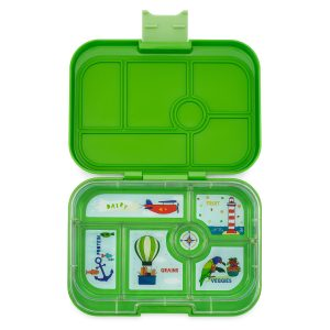 Yumbox bentobox, Cilantro Green Classic met explore tray