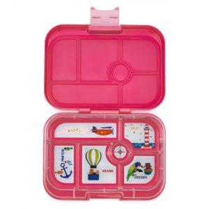 Yumbox bentobox, Lotus Pink Classic met explore tray