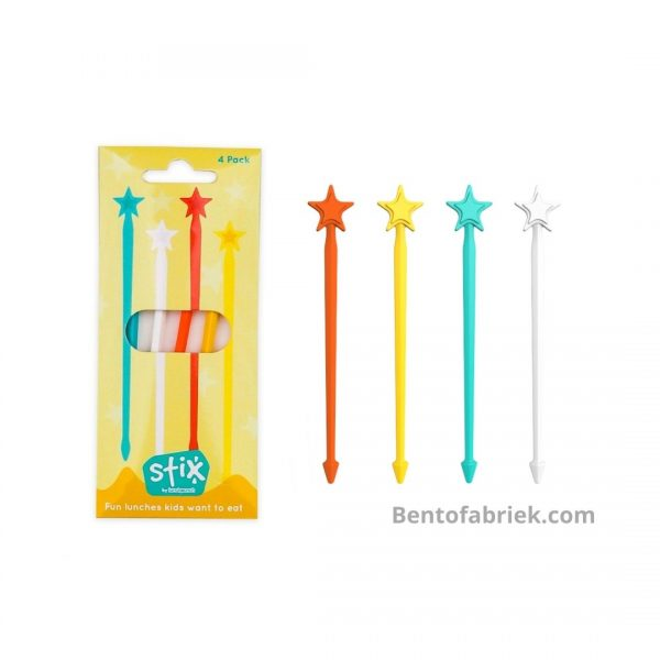 Lunch Punch Stix Yellow - extra lange bento prikkers