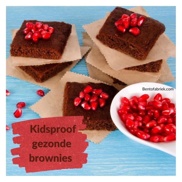 Kidsproof gezonde brownies